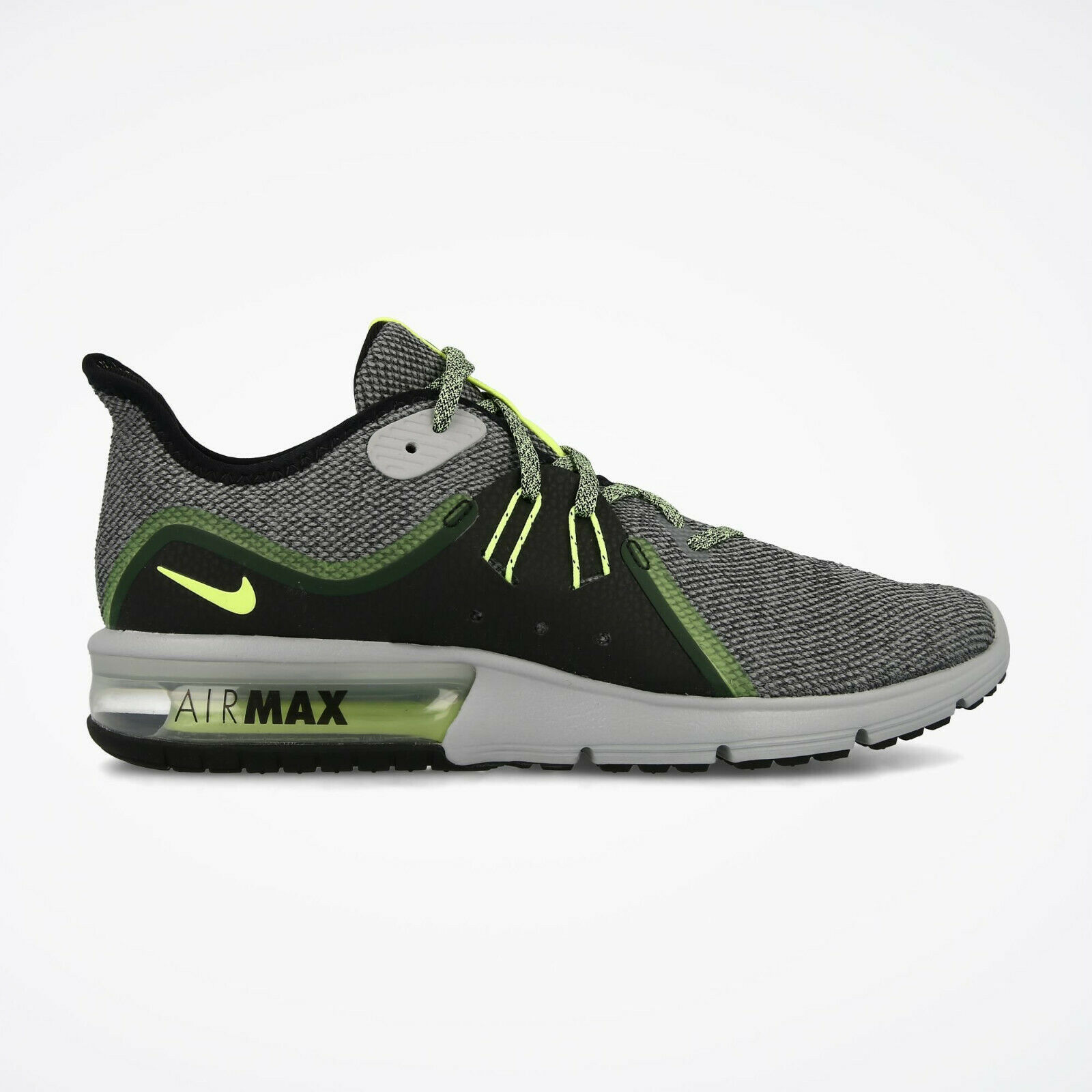 MEN'S NIKE AIR MAX SEQUENT 3 SHOES grey black volt glow 921694 007 MSRP  100