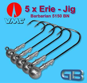 5-x-VMC-Barbarian-Jig-5150-BN-4-0-10g-Jigkopf-Jighaken-Eriekopf-Bleikopf