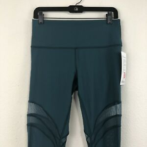 bb205616af4008 LULULEMON Size 10 Green Jasper Jade SEEK THE HEAT Tight Pants 28& ...