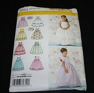 New-Simplicity-Flower-Girl-Dress-size-3-4-5-6-Princess-Sewing-Pattern-Formal-C