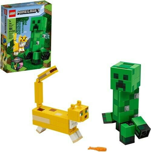 BigFig Creeper™ and Ocelot 21156 LEGO® Minecraft™ New Toy Brick