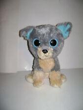 "TY Beanie Boo's 10"" SCRAPS DOG PUP Boo Gray Beige 2000 stuffed animal plush CUTE"