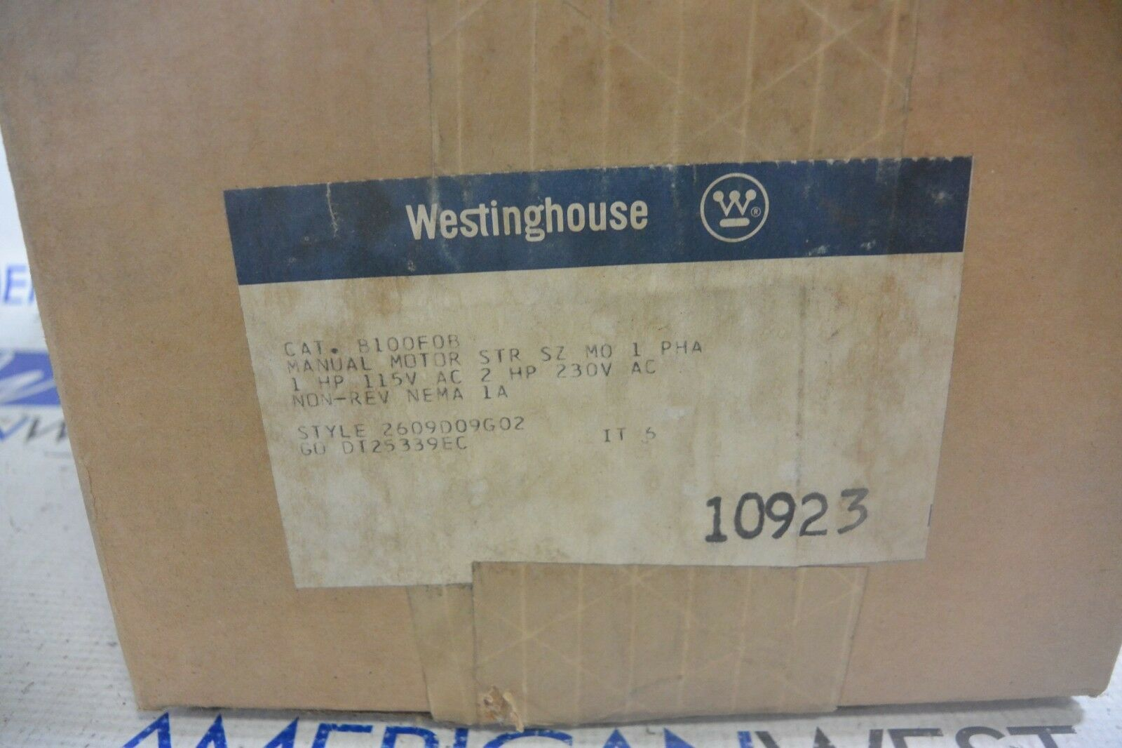 Nuevo Manual Motor De Arranque Westinghouse B100F0B M01 2HP 230V 230V 230V 2609D09G02 fbfcaa