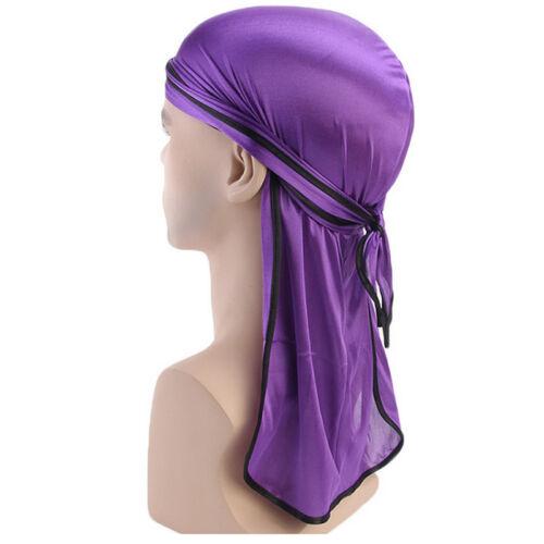 Durag Herren Damen Turban Haarband Kopftuch Bandana Hijab Chemo Mütze