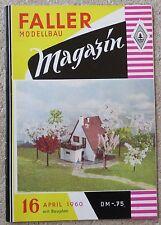Faller  AMS --  Modellbau Magazin 16 von 1960 !