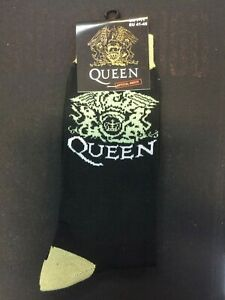 OFFICIAL-LICENSED-QUEEN-CREST-ANKLE-SOCKS-SIZE-7-11-FREDDIE-MERCURY-ROCK