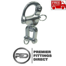 70mm Swivel / Jaw Snap Shackle with Pin - 316 Stainless Steel (Breakload 1900kg)