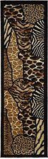 Animal Skin Prints Patchwork Leopard Zebra Rugs 4 Less Collection Runner Area Ru