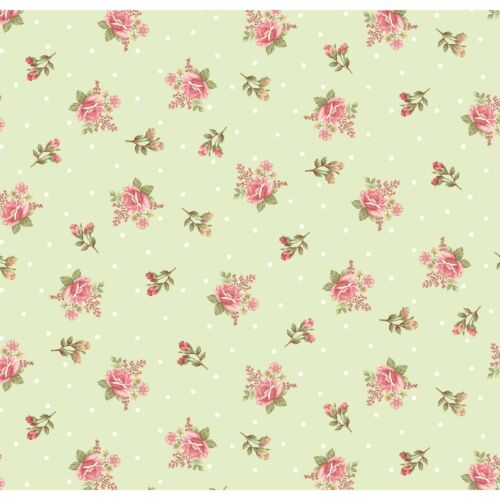 Henry Glass Peaceful Garden Small Roses Green BHY