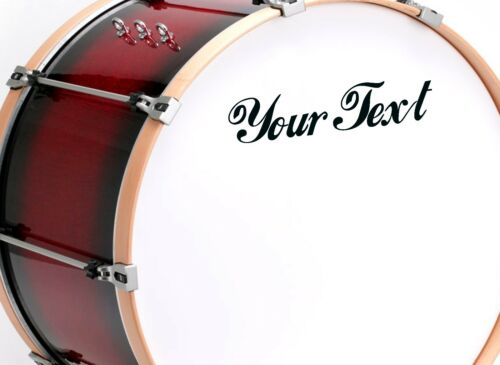 for Drum 2X CUSTOM VINYL DECAL Guitar CHOOSE COLOUR /& FONT sax case