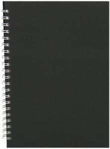 Pink Pig black A4 sketchbook 150gsm acid free white paper 70 pages 35 leaves