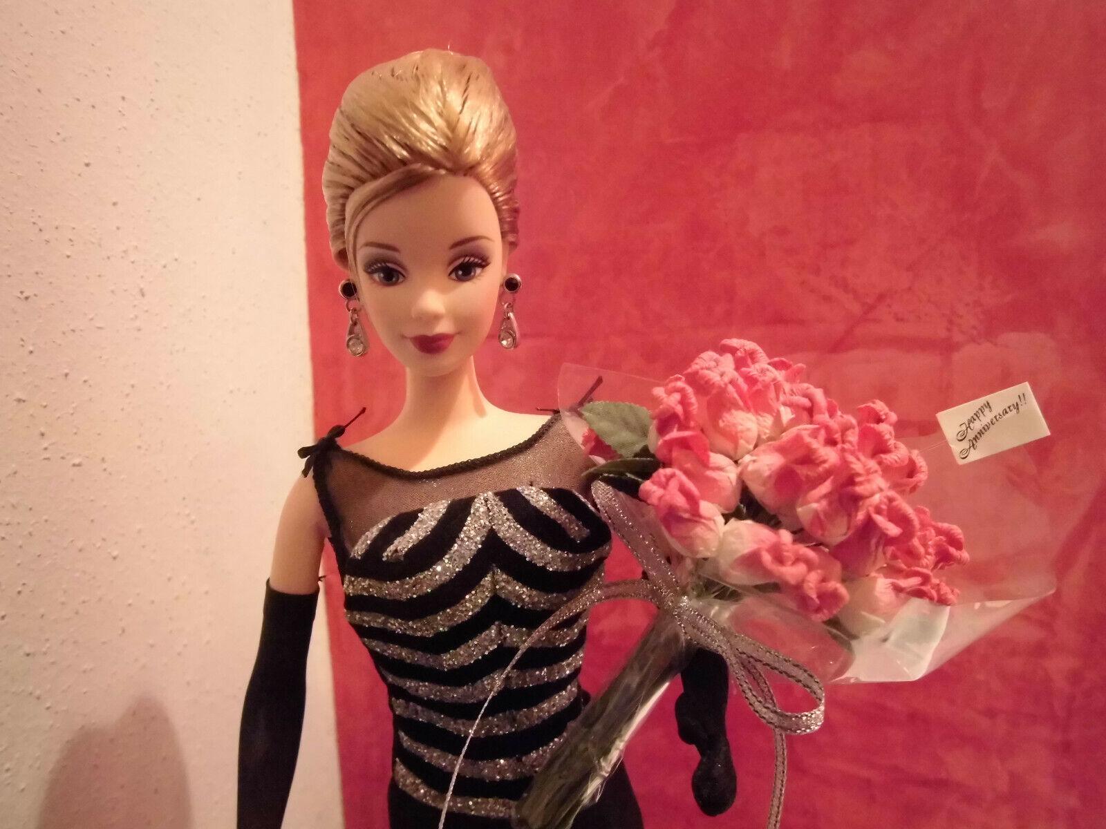 40th Anniversary Barbie + Steiff Teddy Bär Nr. 381 Limited Ed. 1999, Collector