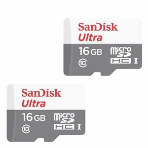 Image Is Loading 2x 16GB SanDisk Ultra 48MB S Class 10
