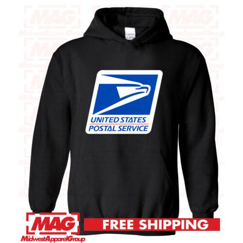 USPS LOGO POSTAL BLACK HOODIE Employee Sweatshirt United States Post Office USA