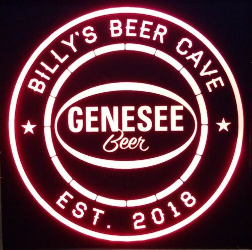 Custom Genesee Beer led 12 x 12 LED Sign led box with remote