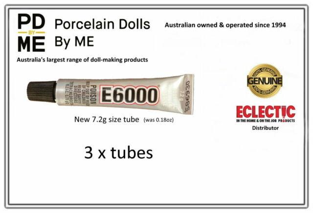 E-6000 Jewellery & Craft Glue Adhesive 7.2gm /( .18Fl.OZ)  - 3 Tubes