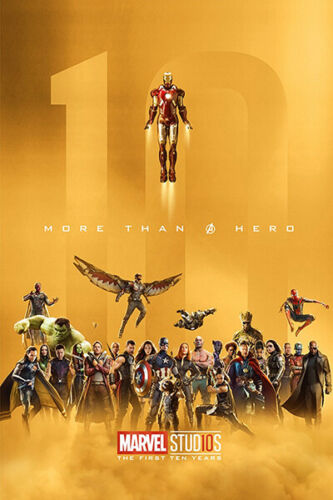 L1268 Art Decor Marvel Suphero Movie The First Ten Years All Characters Avengers
