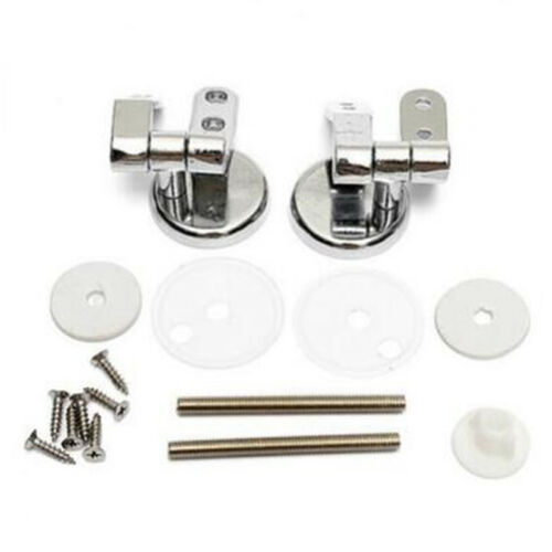 Toilet Seat Replacement Repair Chrome Hinge Set Strong Zinc Alloy N3