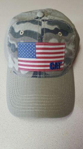 CAT Caterpillar Logo Hat United States flag Camoflauge Ball cap strapback buckle