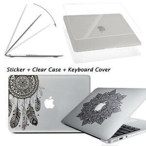 New-Glossy-Clear-Hard-Case-Shell-Laptop-Decal-Sticker-Macbook-Pro-13-15-034-Air-13-034
