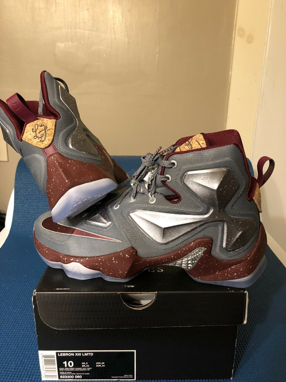 Lebron James Opening Night Nike XIII 13 Bordeaux Cork Stock Size 10 New Dead Stock Cork W/B ebb91d