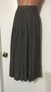 Austin Reed Black White Lined Pleated Skirt Size 4 New Ebay