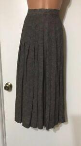 Austin Reed Black White Lined Pleated Skirt Size 4 New Ebay
