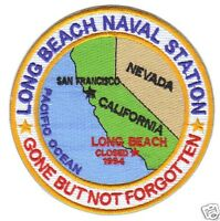 Us Navy Base Patch, Long Beach Naval Station, Calif. Gone But Not Forgotten Y