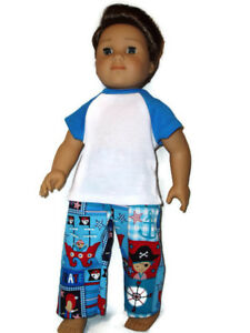 Pirate-Pajamas-doll-clothes-for-Boys-fits-American-Girl-Boy-dolls