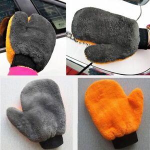 Cloth-Short-Wool-Cleaning-Glove-Plush-Mitt-Coral-Velvet-Car-Wash-Mitten