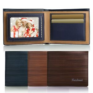 Men-039-s-Leather-Wallet-Pockets-ID-Credit-Card-Holder-Clutch-Bifold-Purse-New