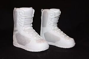 FoveForty SD Supreme Womens White Gray Flower Snowboard Boots Size 8