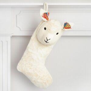 Llama Christmas Stocking.Details About Llama Christmas Stocking Boho Pom Pom Tassels 100 Wool Made In Nepal