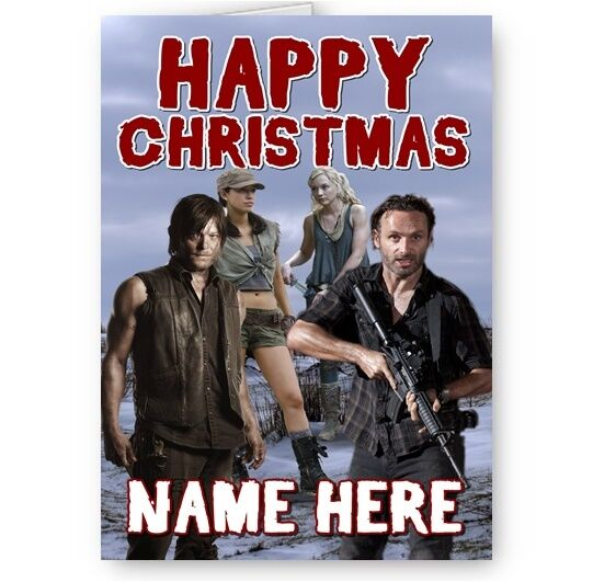 Any Greetings Card A5 Your Name Negan s1 Personalised Walking Dead Birthday