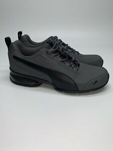 Puma-Leader-VT-Buck-19151601-Mens-Black-Lace-Up-Low-Top-Sneakers-Shoes-8
