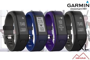 Garmin-Vivosmart-HR-GPS-HRM-Activity-Tracker-Black-Purple-Blue-Black-XL