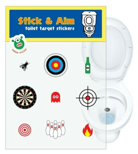 Toilet Training Toilet Target Stickers for Cleaner Toilets