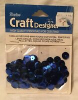 Darice Craft Designer 8mm Round Cup Cupped Royal Blue Sequins 200 Pc Pkg.
