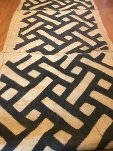 genuine-10-feet-African-Congo-Kuba-Raffia-cloth-fabric-natural-woven-handmade