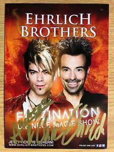 Ehrlich-Brothers-Ak-Andreas-amp-Chris-Faszination-Carte-Autographe-Original-Signe