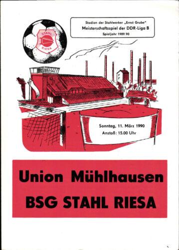 DDR-Liga 89/90 BSG Stahl Riesa Union Mühlhausen 11.03.1990