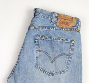 Levi-039-s-Strauss-amp-Co-Hommes-501-Jeans-Jambe-Droite-Taille-W38-L32-ARZ712