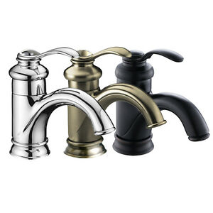 6 Quot Bathroom Sink Faucet Brushed Nickel Oil Rubbed Bronze