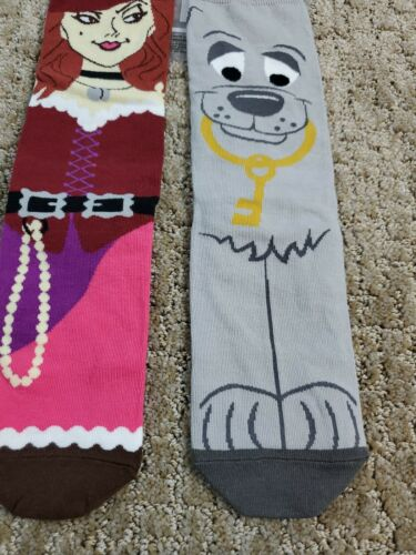 Disney Parks Pirates of the Caribbean Red and Dog Adult Socks New Authentic