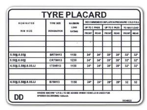 Holden-Tyre-Placard-LH-034-S-034-034-SL-034-034-SLR-034-4-2-Litre