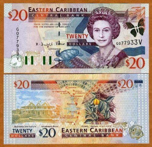 Eastern East Caribbean $20 St Vincent P-39v UNC /> Scarce 2000
