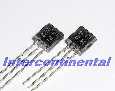 120pair DIP Transistor 2SA970 /& 2SC2240 TO-92