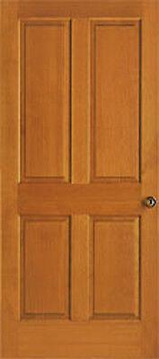 4 Panel Raised Clear Stain Grade Hemlock Solid Core Interior Wood Doors Door Ebay