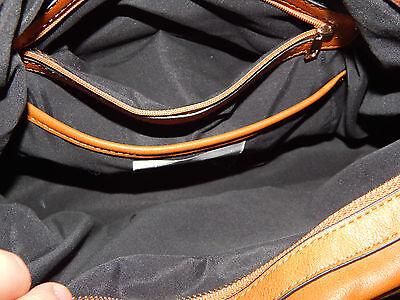 Tasche Kunstleder braun + gold ca. 40 cm lang x 15 cm tief x 23 cm hoch neu