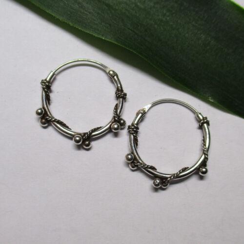 Einzeln oder Paar Keltische Ohrringe Gothic Bali Creolen 16 mm Silber 925